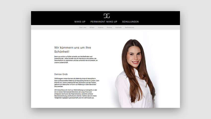 Webdesign Projekt Make-Up Artist Thumbnail