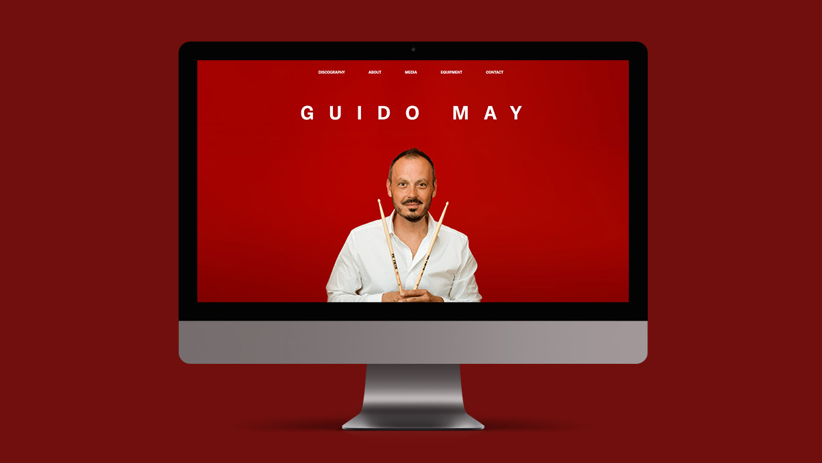 Webdesign Project Gudio May Drummer